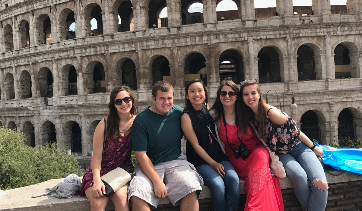 Students in Rome